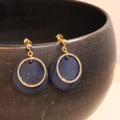 indigo woodparts ring pierce