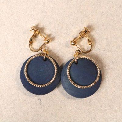 indigo woodparts ring  earrings